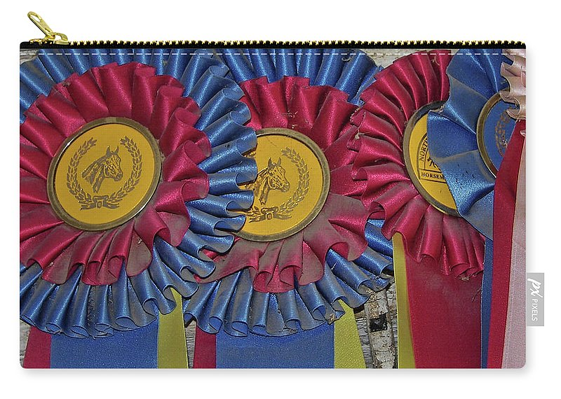 Blue Carry-all Pouch featuring the photograph Blue Ribbons by JAMART Photography