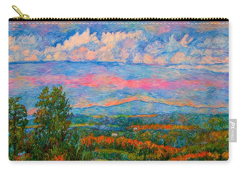 Mountains Carry-all Pouch featuring the painting Blue Ridge Cloud Burst by Kendall Kessler