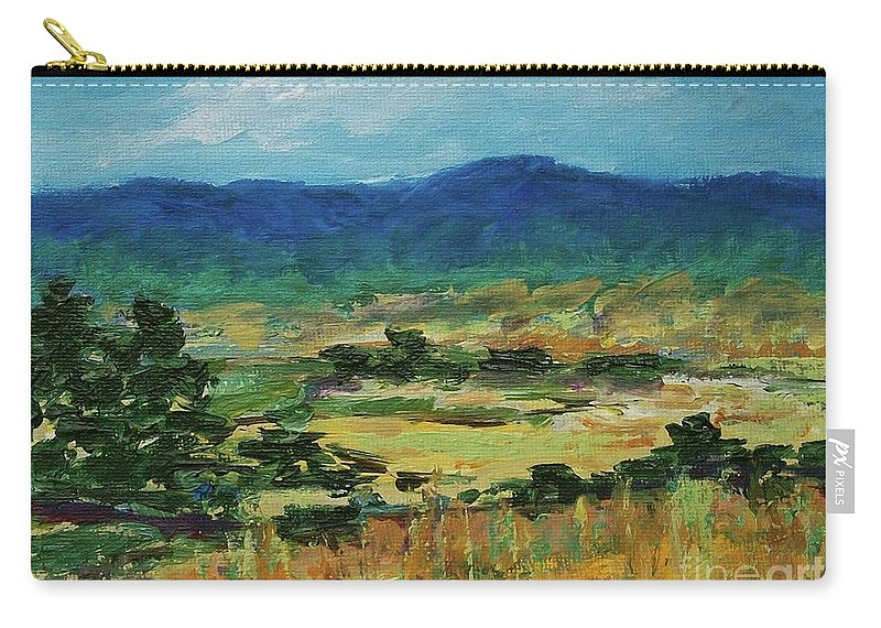 Pantone 2017 Greenery Carry-all Pouch featuring the painting Blue Ridge by Gail Kent