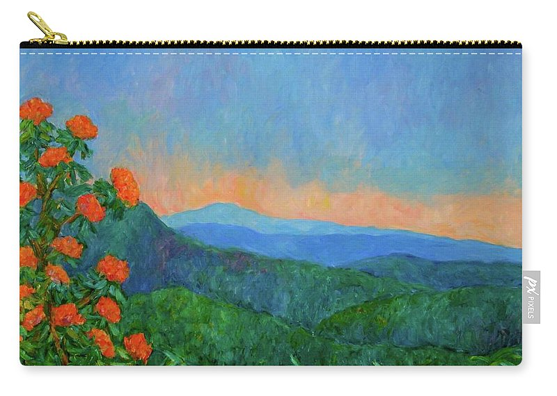 Kendall Kessler Carry-all Pouch featuring the painting Blue Ridge Morning by Kendall Kessler