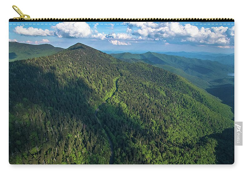 Balsam Gap Carry-all Pouch featuring the photograph Blue Ridge Parkway At Balsam Gap by Ryan Phillips