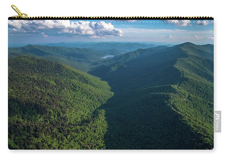 Blue Ridge Parkway Carry-all Pouch featuring the photograph Blue Ridge Parkway Rainbow Gap by Ryan Phillips