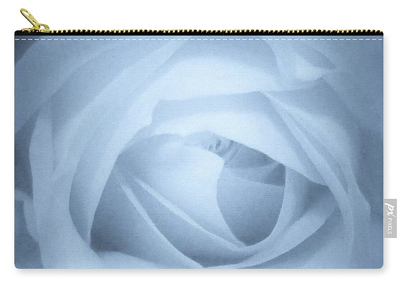 Floral Carry-all Pouch featuring the photograph Blue Rose by Rosemary Meier