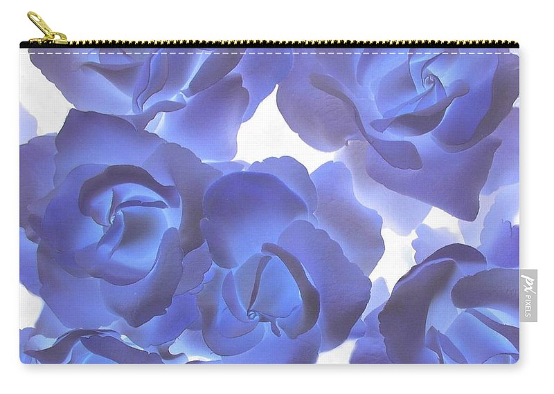 Blue Carry-all Pouch featuring the photograph Blue Roses by Tom Reynen