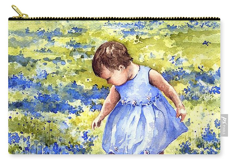 Blue Carry-all Pouch featuring the painting Blue by Sam Sidders