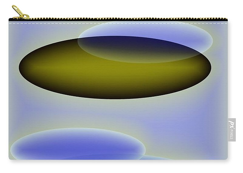 Blue. Shapes Carry-all Pouch featuring the digital art Blue Shapes by Helmut Rottler
