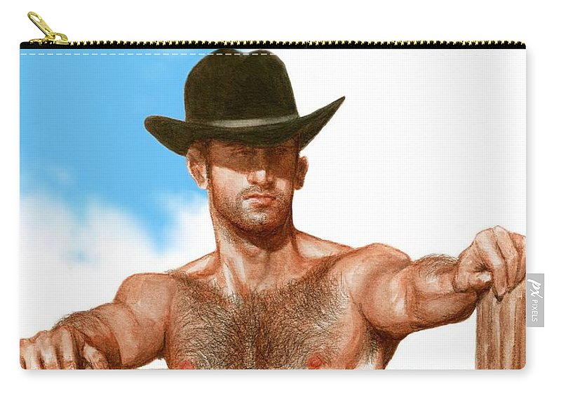 Cowboy Art Bruce Lennon Carry-all Pouch featuring the painting Blue Skies by Bruce Lennon