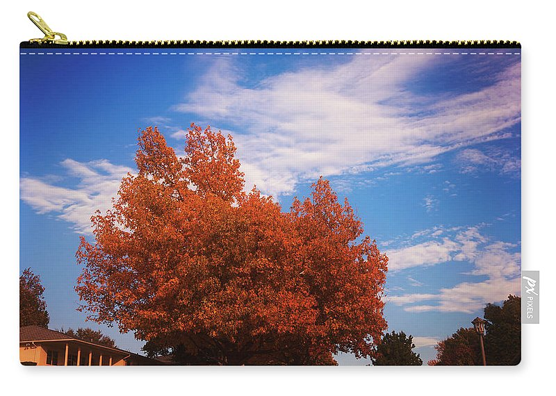 Landscape Carry-all Pouch featuring the photograph Blue Sky Autumn by Toni Hopper