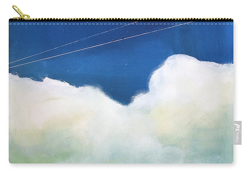Sky Carry-all Pouch featuring the painting Blue Sky Birds by Toni Grote