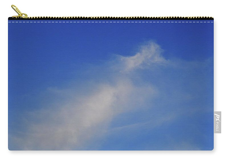 Abstract Carry-all Pouch featuring the photograph Blue Sky Little Cloud by Lyle Crump