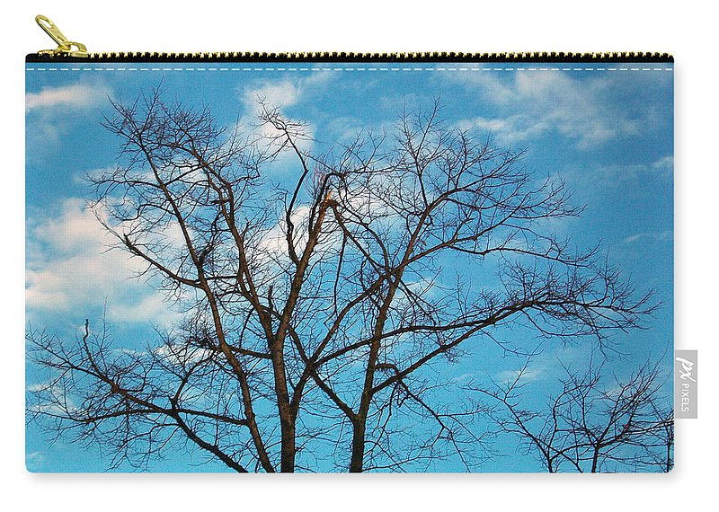 Tree Carry-all Pouch featuring the photograph Blue Sky by Munir Alawi