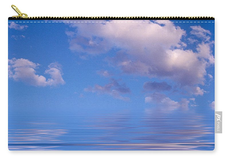 Original Art Carry-all Pouch featuring the photograph Blue Sky Reflections by Jerry McElroy