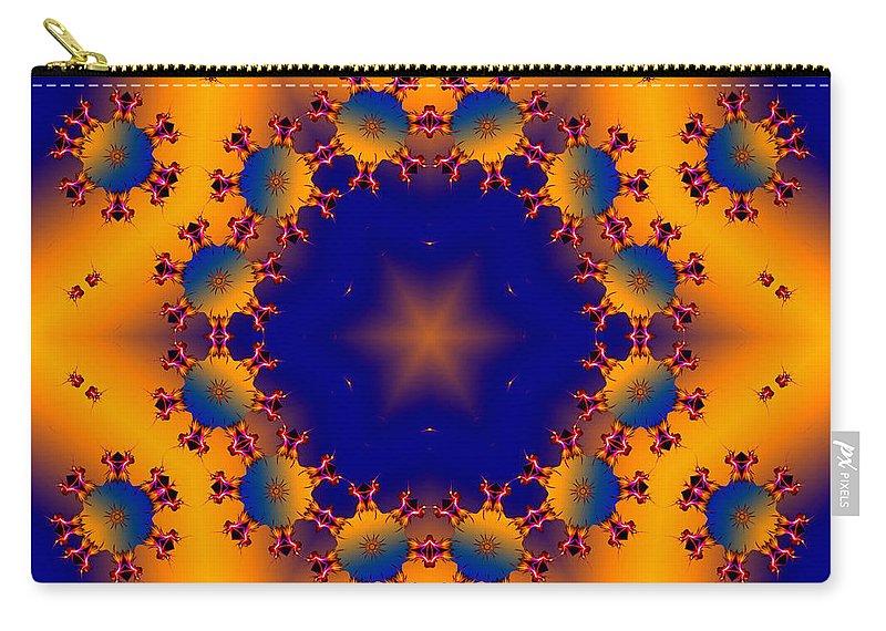 Star Carry-all Pouch featuring the digital art Blue Sky by Robert Orinski