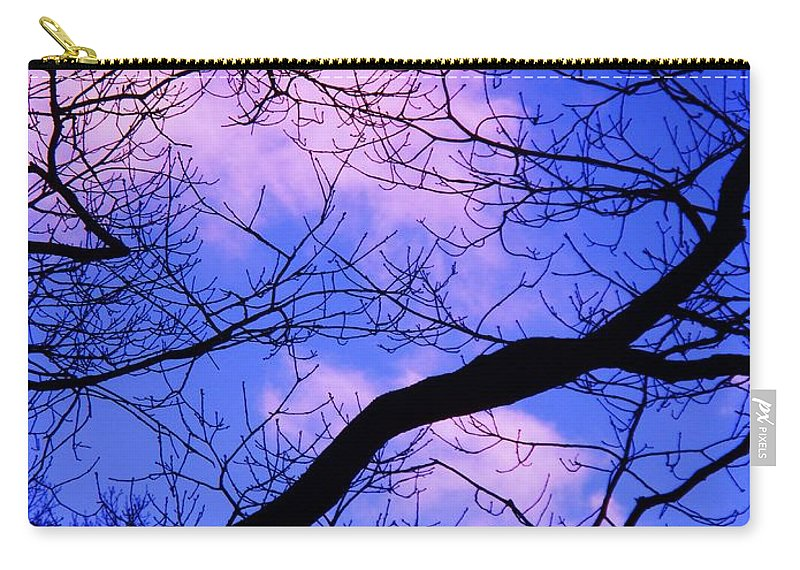 Nature Carry-all Pouch featuring the painting Blue Sky Through The Trees by Eric Schiabor