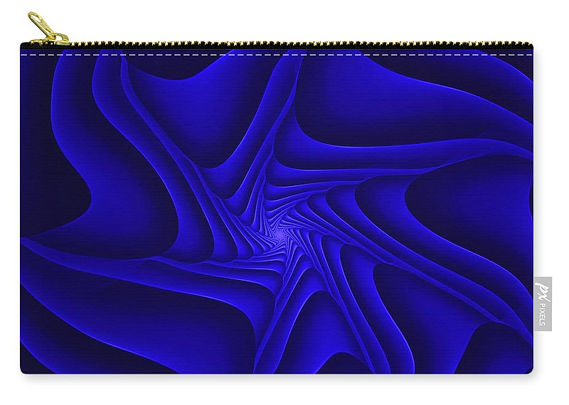 Digital Painting Carry-all Pouch featuring the digital art Blue Slide by David Lane