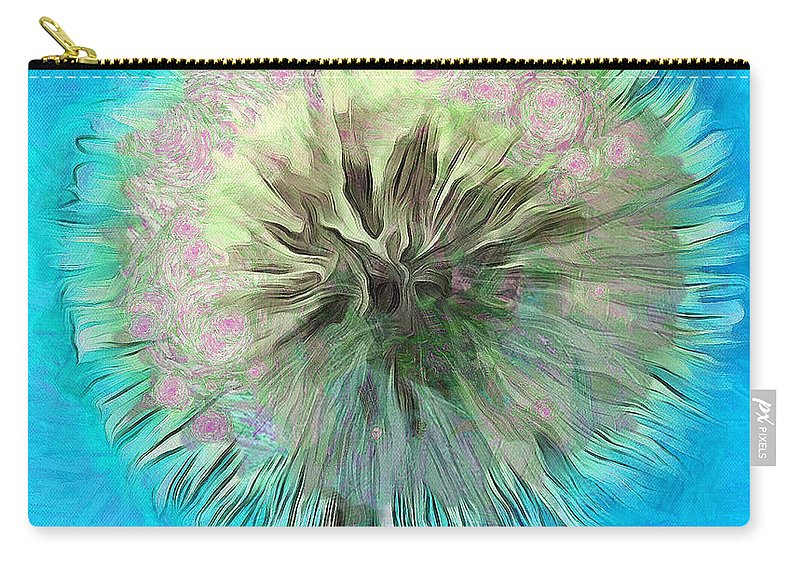 Dandelion Carry-all Pouch featuring the photograph Blue Spirit by Krissy Katsimbras