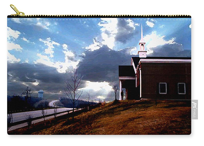 Landscape Carry-all Pouch featuring the photograph Blue Springs Landscape by Steve Karol