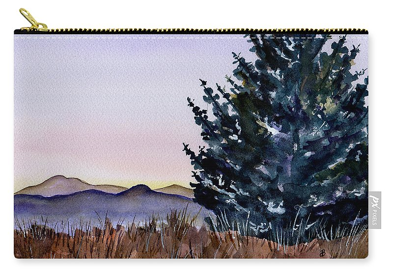 Watercolor Carry-all Pouch featuring the painting Blue Spruce by Brenda Owen