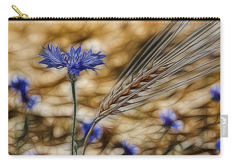 Cornfield Carry-all Pouch featuring the photograph Blue Stars by Joachim G Pinkawa