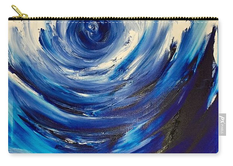 Carry-all Pouch featuring the painting Blue Storm by Dori Murakami