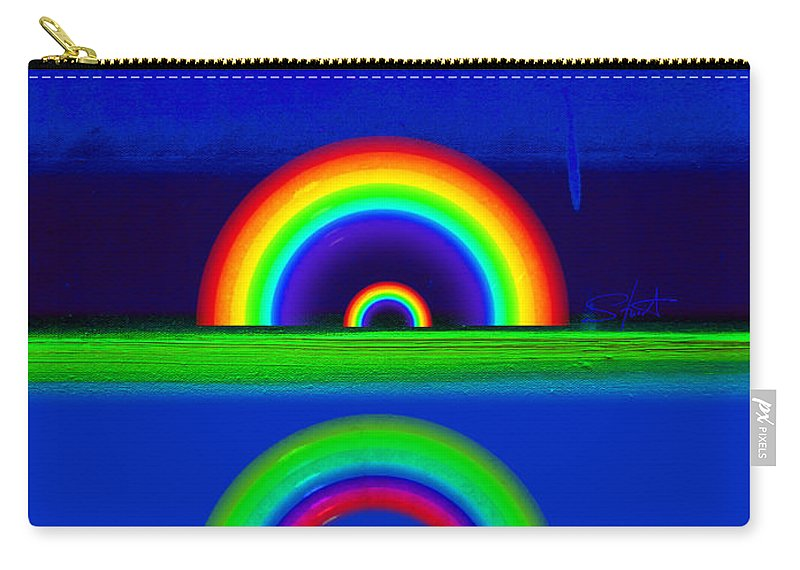 Rainbow Carry-all Pouch featuring the painting Blue Sunset by Charles Stuart
