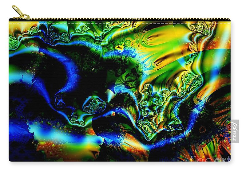 Mineral Vein Carry-all Pouch featuring the digital art Blue Vein Discovered by Ron Bissett