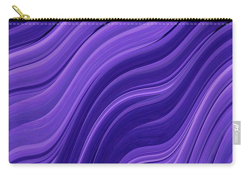 Whirlpool Carry-all Pouch featuring the photograph Blue Wave by Tim Allen