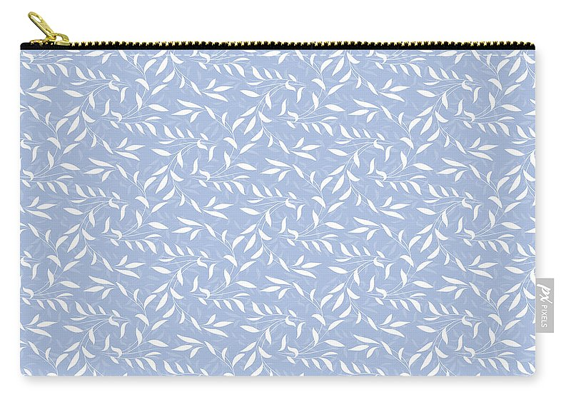 Blue Carry-all Pouch featuring the digital art Blue Willow Elegance by Antique Images