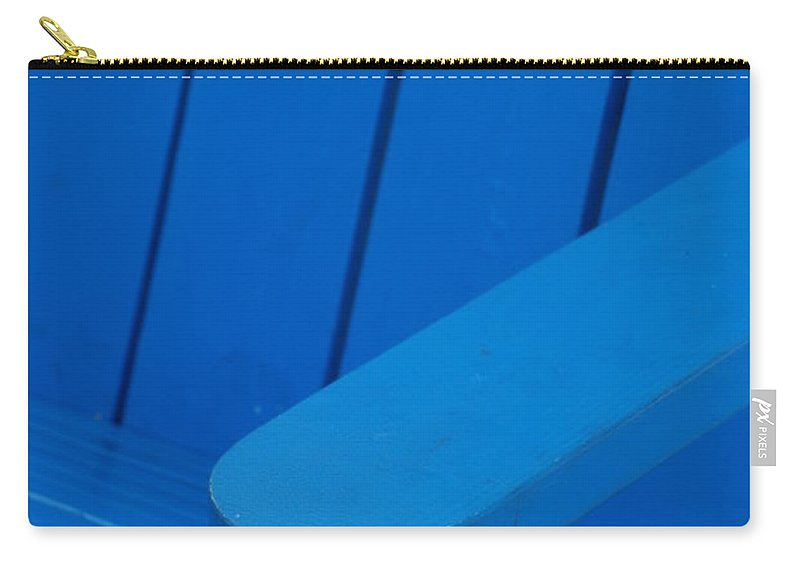 Macro Carry-all Pouch featuring the photograph Blue Wood by Rob Hans