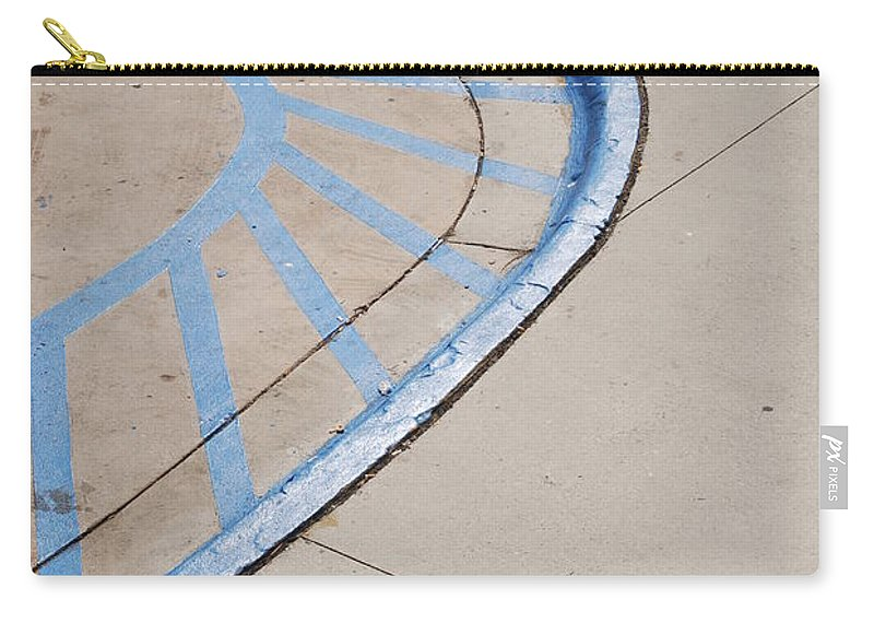 Blue Carry-all Pouch featuring the photograph Blue Zone by Rob Hans