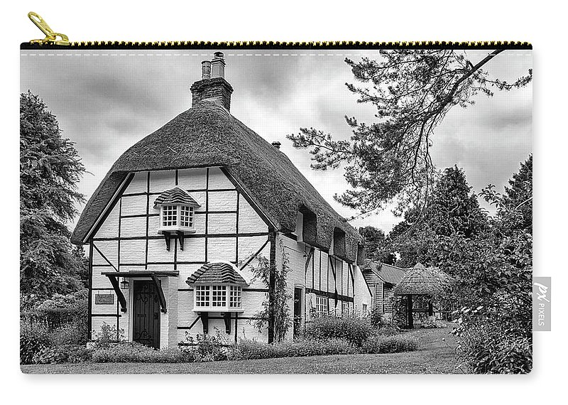 Cottage Carry-all Pouch featuring the photograph Bluebell Cottage Micheldever by Shirley Mitchell