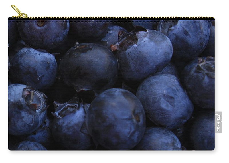 Blueberries Carry-all Pouch featuring the photograph Blueberries Close-up - Vertical by Carol Groenen