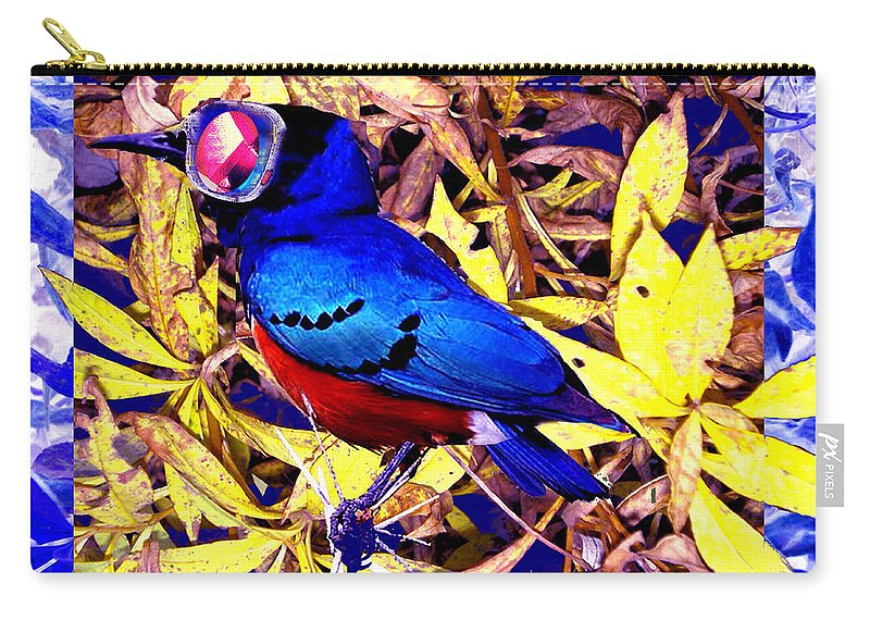 Bluebird Of Happiness Carry-all Pouch featuring the digital art Bluebird Of Happiness by Seth Weaver