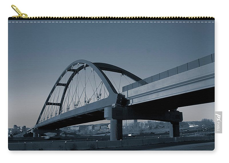 Duotone Carry-all Pouch featuring the photograph Blued Bridge by Angus Hooper Iii