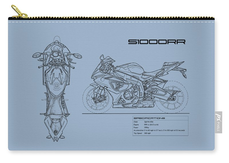 Blueprint of a s1000rr motorcycle carry all pouch for sale by mark rogan bmw s1000rr carry all pouch featuring the photograph blueprint of a s1000rr motorcycle by mark malvernweather Gallery