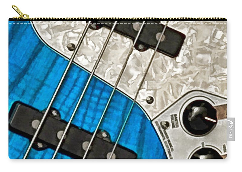 Guitar Carry-all Pouch featuring the photograph Blues Bass by William Jobes