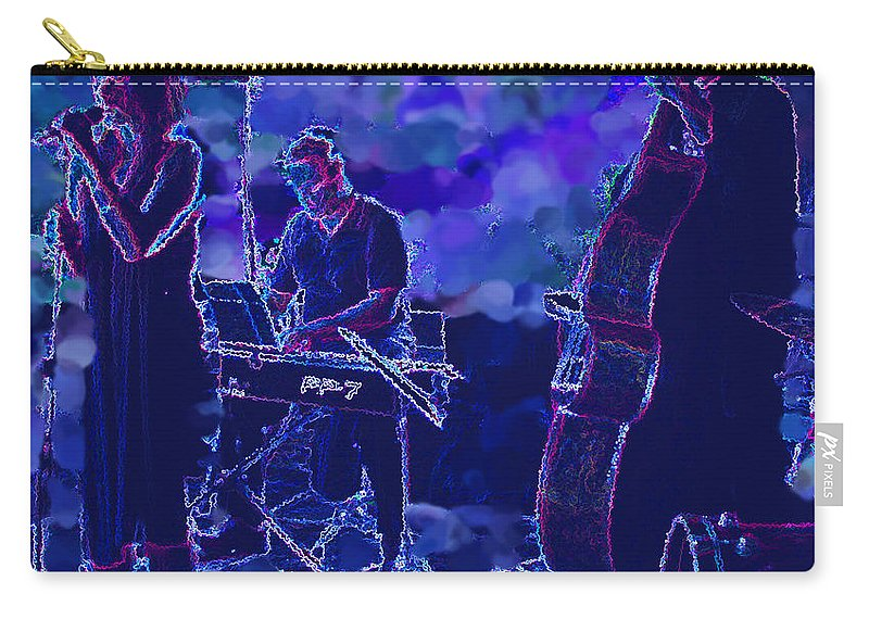 Music Carry-all Pouch featuring the photograph Blues by Ian MacDonald