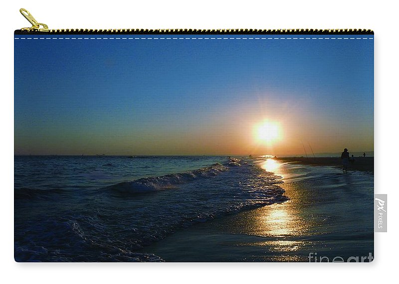 Landscape Carry-all Pouch featuring the photograph Blues In The Evening by Kendall Eutemey