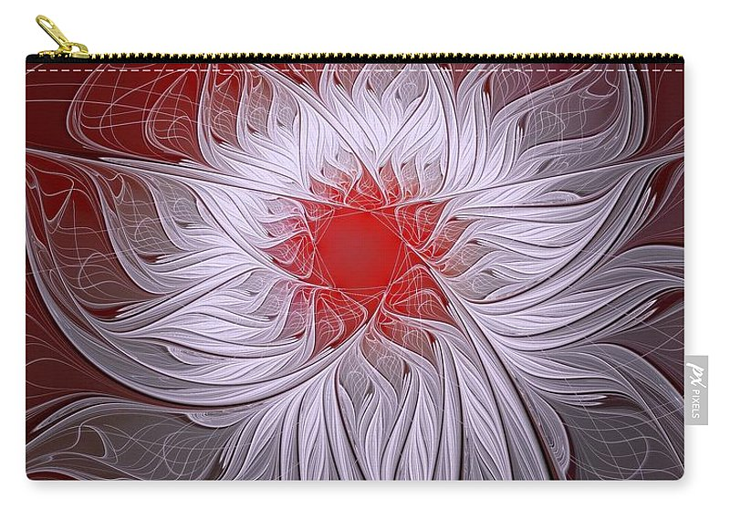 Digital Art Carry-all Pouch featuring the digital art Blush by Amanda Moore