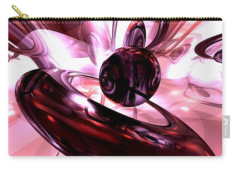 3d Carry-all Pouch featuring the digital art Blushing Abstract by Alexander Butler