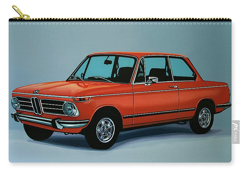 Bmw 2002 Carry-all Pouch featuring the painting Bmw 2002 1968 Painting by Paul Meijering
