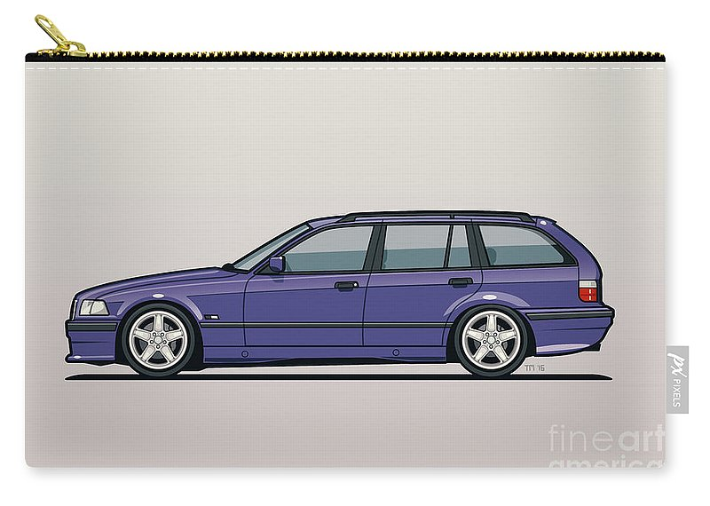 Bmw E36 328i 3 Series Touring Wagon Techno Violet Carry All Pouch
