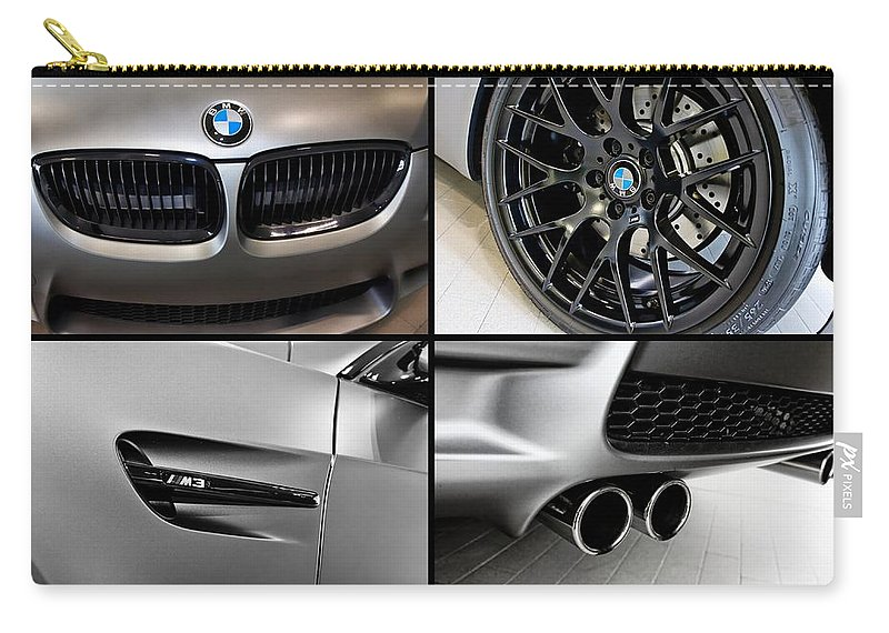 Bmw M3 Carry-all Pouch featuring the photograph Bmw M3 Collage by Aaron Berg