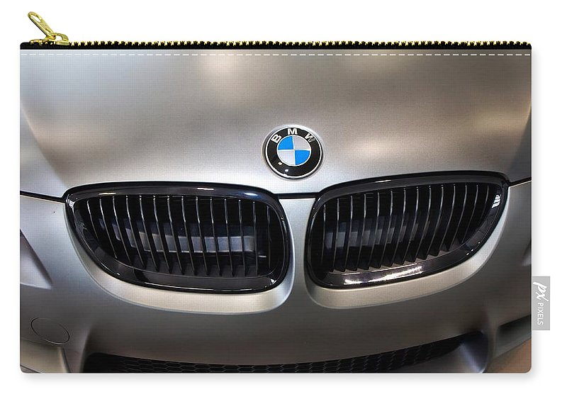 Bmw M3 Carry-all Pouch featuring the photograph Bmw M3 Hood by Aaron Berg