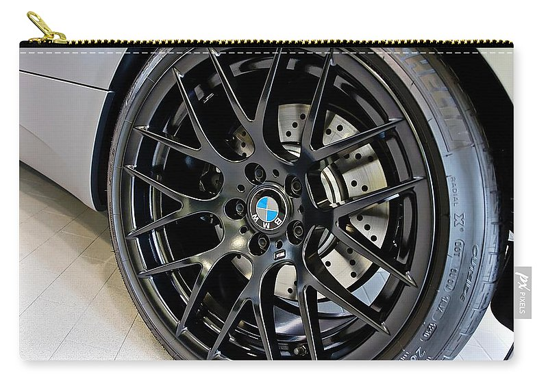 Bmw M3 Carry-all Pouch featuring the photograph Bmw M3 Wheel by Aaron Berg