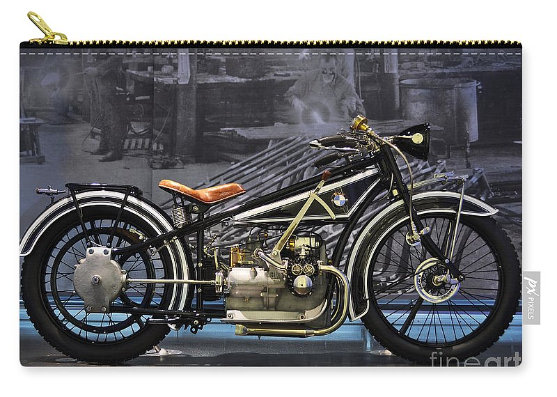 Bmw Carry-all Pouch featuring the photograph Bmw Vintage Motorcycle by Mary Machare