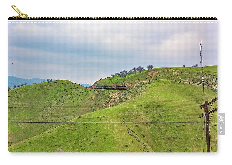 Bnsf Carry-all Pouch featuring the photograph Bnsf7492 2 by Jim Thompson