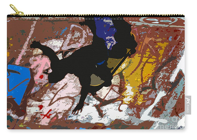 Skate Board Carry-all Pouch featuring the photograph Boarding High by David Lee Thompson