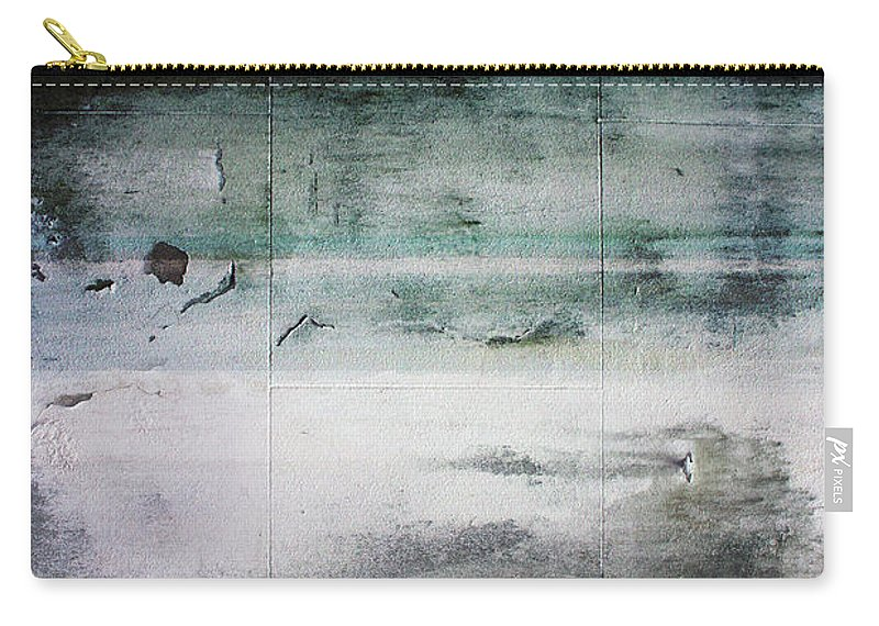 Beach Carry-all Pouch featuring the mixed media Boardwalk Blues- Art By Linda Woods by Linda Woods