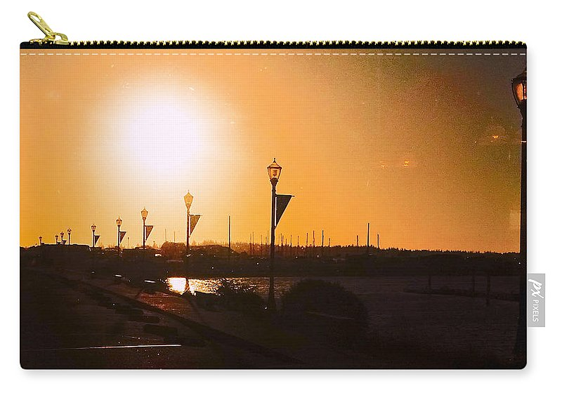 Boardwalk Carry-all Pouch featuring the photograph Boardwalk Sunset by Leah Stark